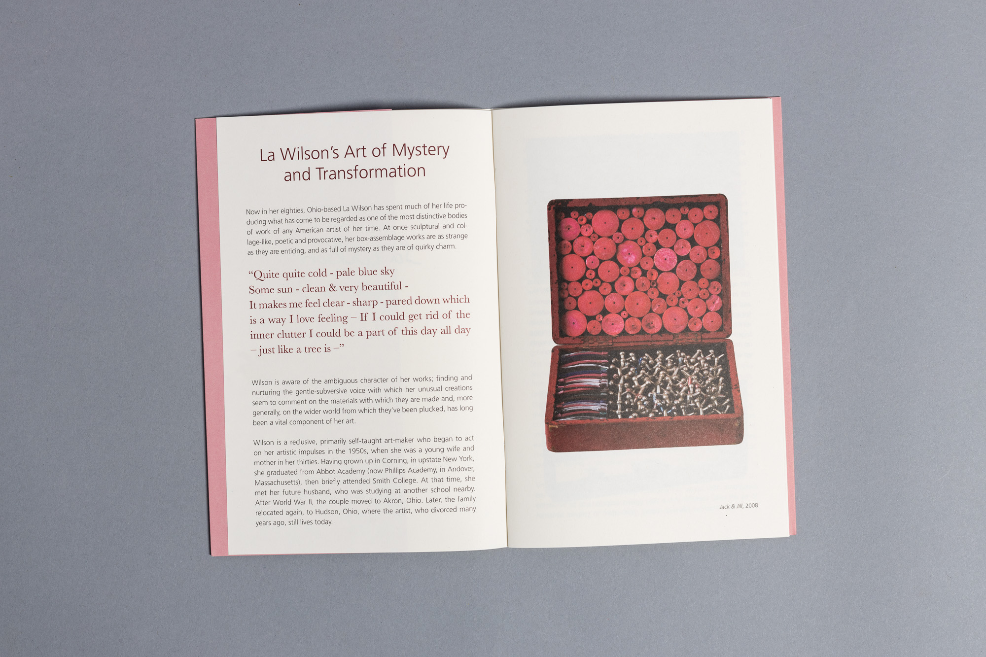 La Wilson - print catalog design