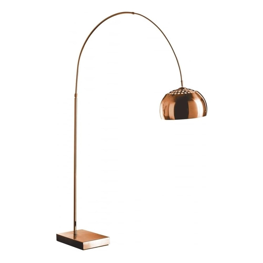 Buy Arched Copper Floor Standing Lamp from Fusion Living