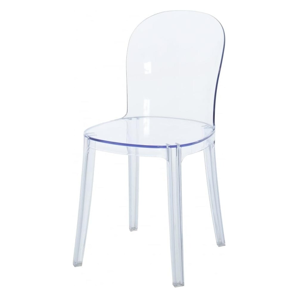 cushions for ghost chairs office chair quotation crystal clear style plastic dining from fusion living