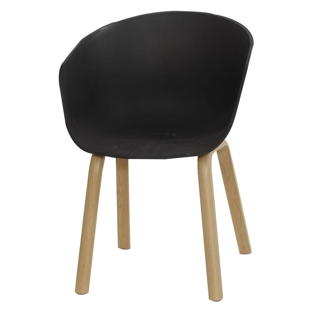 black plastic chair with wooden legs ikea high eiffel inspired armchair light wood at fusion