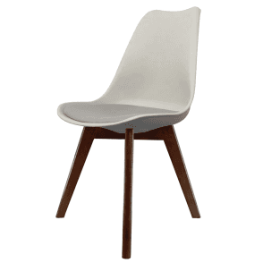 eiffel chair wood legs recliner with ottoman inspired white plastic dining and squared dark light grey