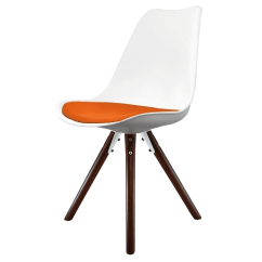 Eiffel Chair Wood Legs Computer Desk And Combo Inspired White Orange Dining Pyramid Dark With