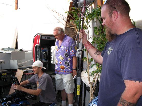 Paul O., Brian, and Aaron contemplate a setup