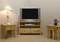 Ashley oak furniture corner TV stand & nest of tables ...