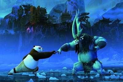 Po and Kai in a fight scene in Kung Fu Panda 3