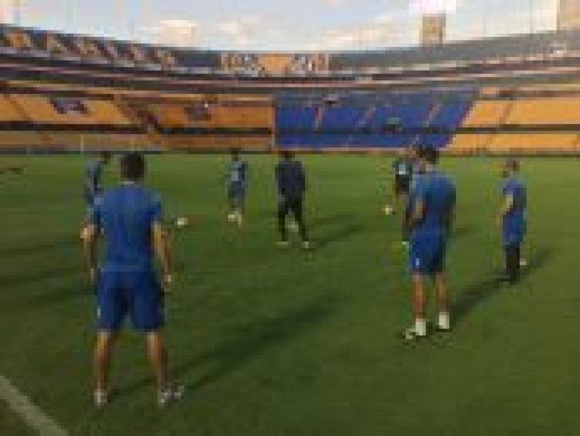 Herediano reconoció la gramilla del Estadio Universitario de Nuevo León, terreno en el que buscará romper la historia y clasificar en la CONCACAF Liga Campeones: Foto: Prensa CSH