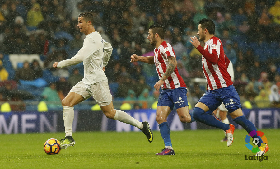 Cristiano Ronaldo marcó doblete ante el Atlético y es el referente del conjunto merengue. Foto: LaLiga