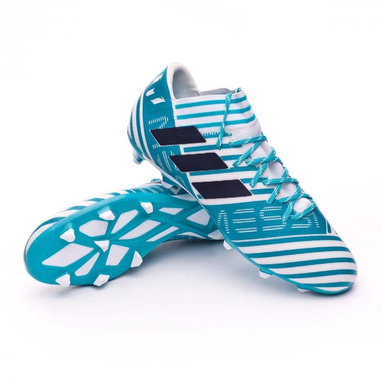 check out e07ee ba620 botines adidas nemeziz 2018 azules chuteira adidas nemeziz messi 17 3 fg  white legend ink