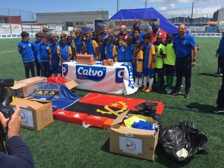 XV Torneo Internacional Infantil de Fútbol 7 de Carballo 2019. AFA Campeón. Celebración 05