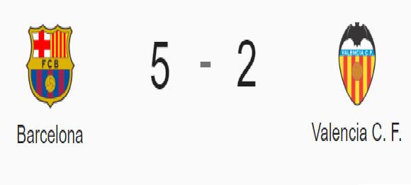 FC Barcelona 5 - Valencia CF 2