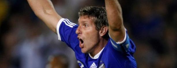 Martín Palermo con la selección de Argentina