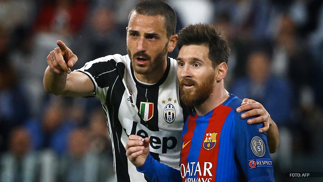 Jugadores de Juventus protagonizan incidente por la camiseta de Lionel Messi