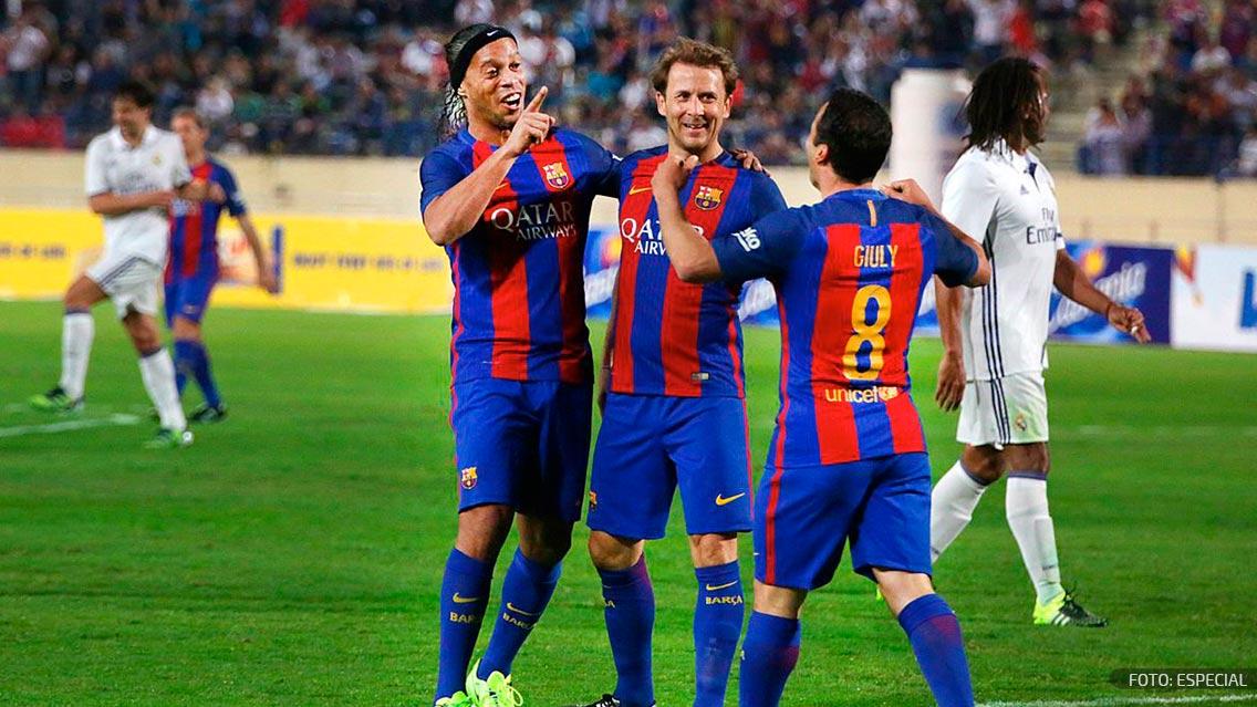 FC Barcelona ganó 3-2 al Real Madrid en Clásico de Leyendas