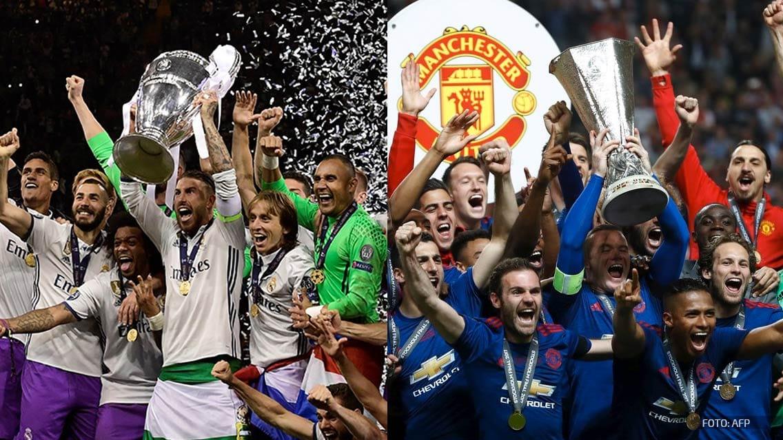 Real Madrid y Manchester United jugarán la Supercopa de Europa 2017