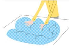 ふとん丸洗いサービス 前処理
