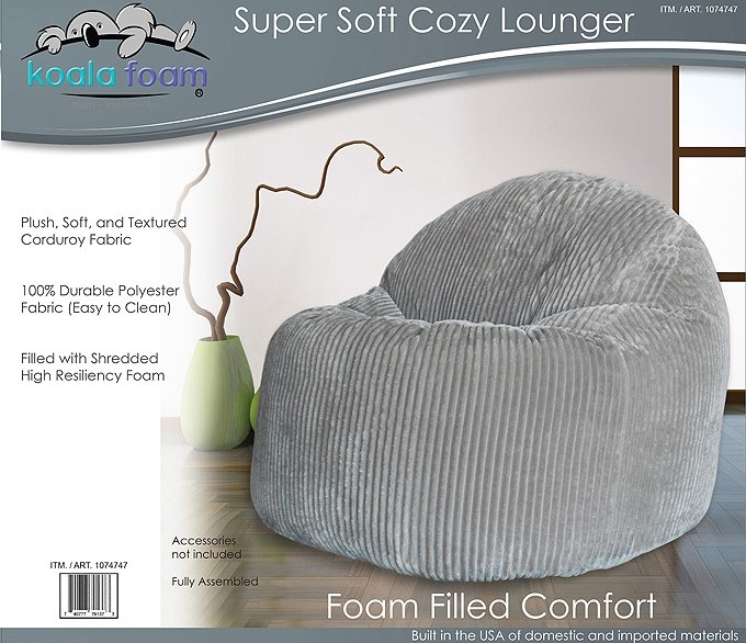 costco dining chair covers fancy chairs for sale koala foam beanbag – home   futon city