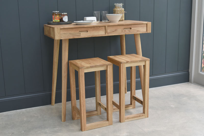 Breakfast Bar Table with Drawers