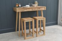 Breakfast Bar Table with Drawers | Futon Company