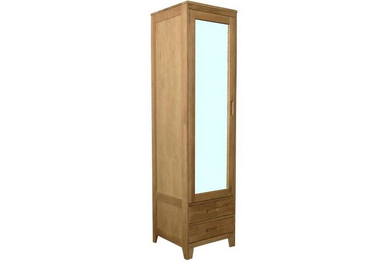 Narrow Oak Wardrobe for Small Spaces  Futon Company