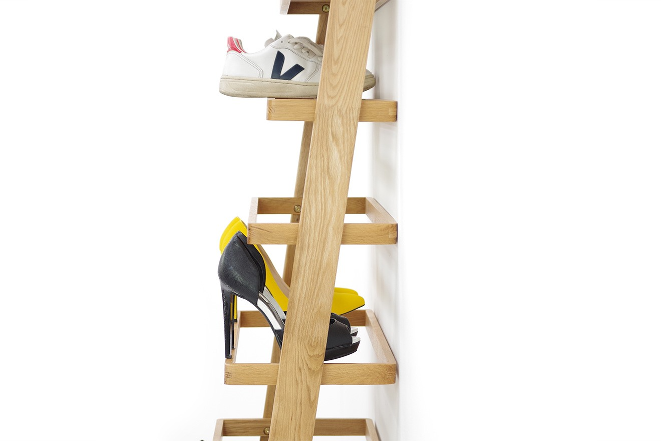Leaning Shoe Rack with 7 Layers  Futon Company