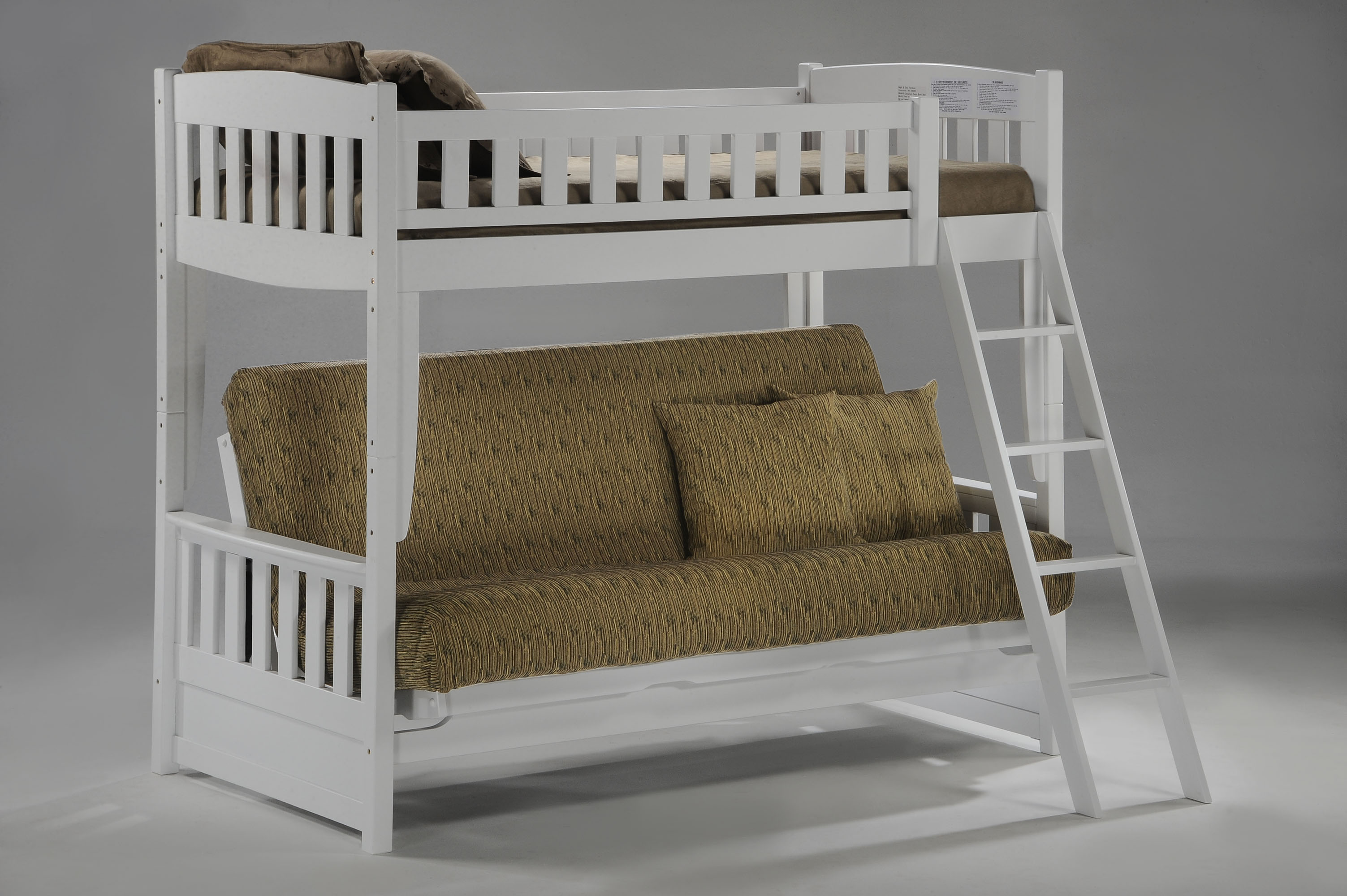 bed over sofa marley 3 seater fabric with storage chaise cinnamon futon bunk night and day d 39or natural