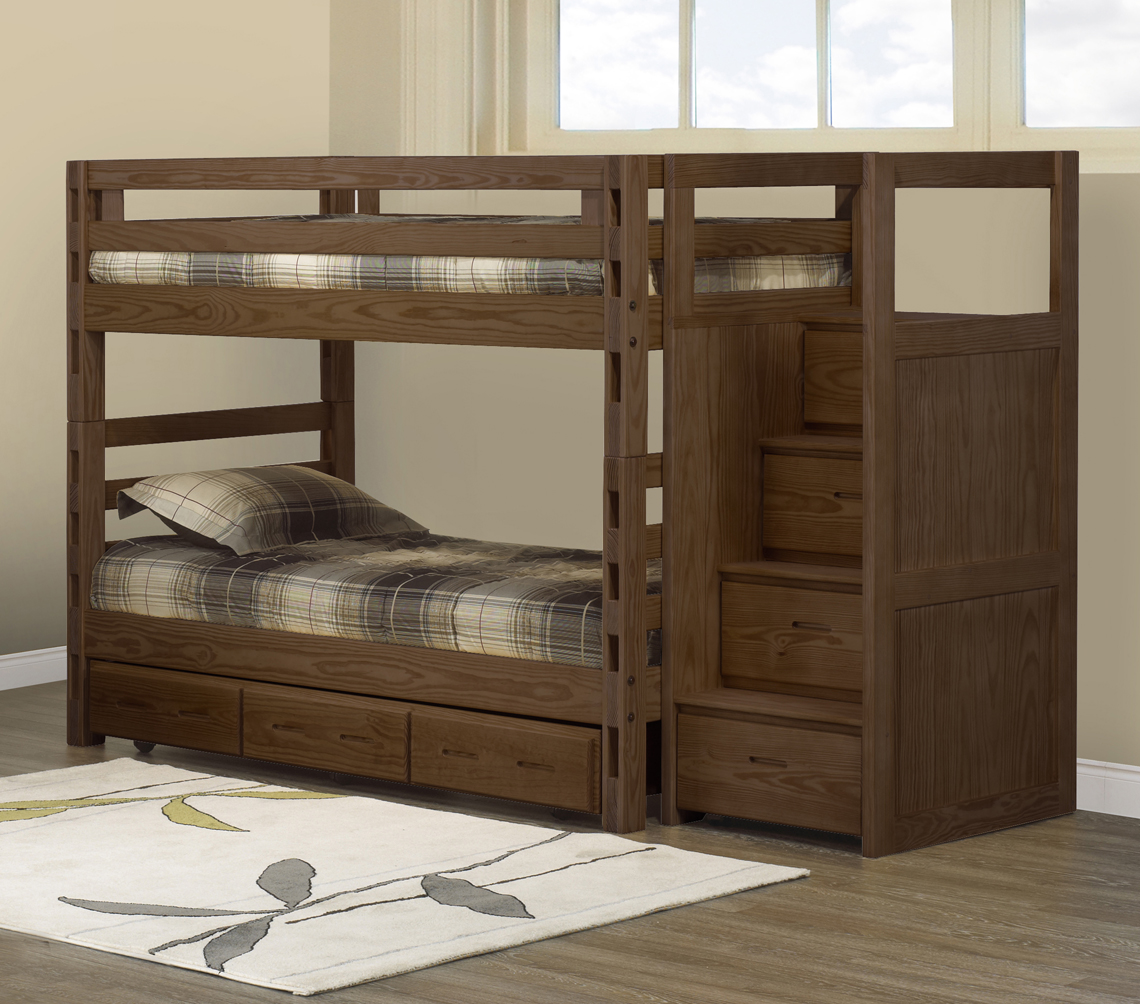 Crate Designs bunk bed  TwinTwin  Futon dor  Natural