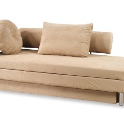 Sofa Bed Queen Size Overstuffed Nubo Khaki Microfiber By At Home Usa