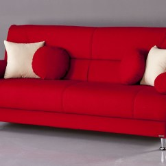 Red Sofas On Sale Divani Casa Pella Modern White Bonded Leather Sectional Sofa Hollywood Jazz Crimson Futon Bed Mattress