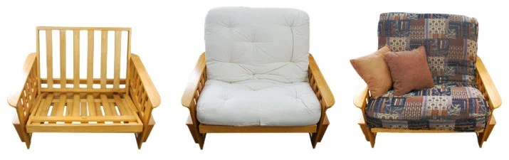 futon frame futon mattress and futon cover with optional pillows