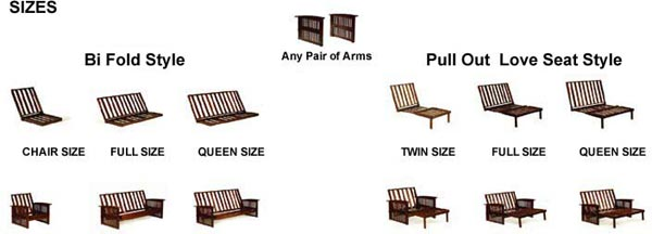 Futon Frame Sizes