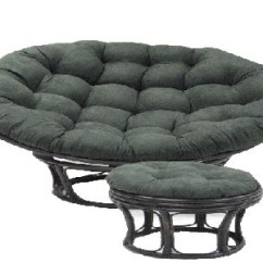 Papasan Chair Ottoman Banquet Covers Singapore With Micro Suede Cushion