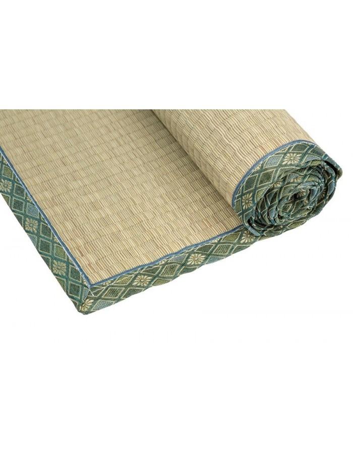 Traditional Japanese Goza Mat for Yoga 90 x 200 cm Green