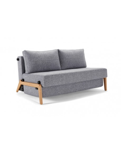 chair bed with arms uk academy sports stadium chairs innovation cubed wood 140 sofa contemporary light oak legs