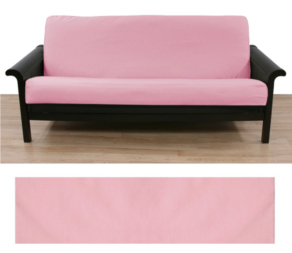 Solid Light Pink Futon Cover - Manufacturer And Save
