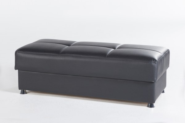 Kimberly Ottoman Santa Glory Black - Futon World