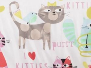 Purrty Cat 22'' Bolster Pillow Set