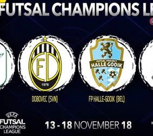 De loting voor de Uefa Futsal Champions League Elite Round!
