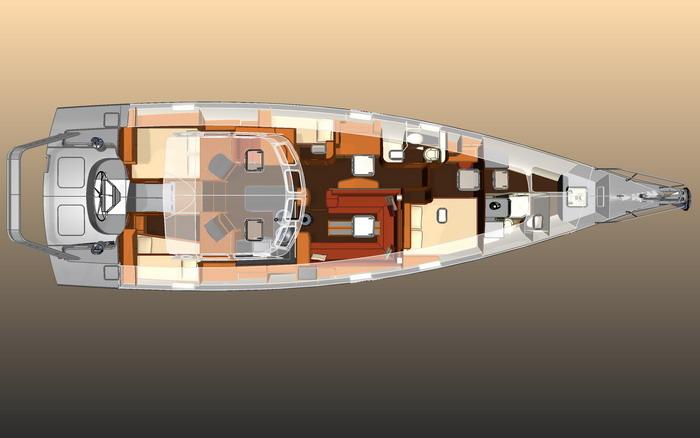 Plans damnagement intrieur voilier driveur intgral en aluminium