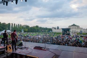 Il palco dello Stupinigi Sonic Park che ha ospitato il concerto dei Negrita. Foto di Marco Cometto, ufficio stampa