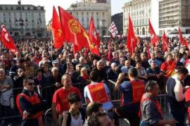 Una manifestazione dei metalmeccanici Fiom a Torino - (fonte: www.fiomtorino.it)