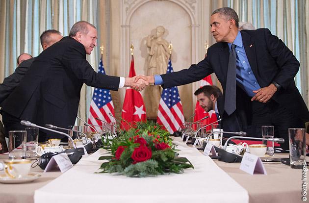 Obama e Erogan a paigi
