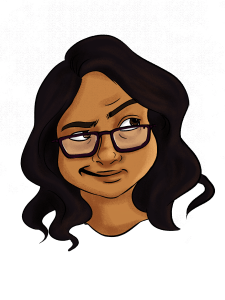 Sneha Paradeshi - illustrator self portrait
