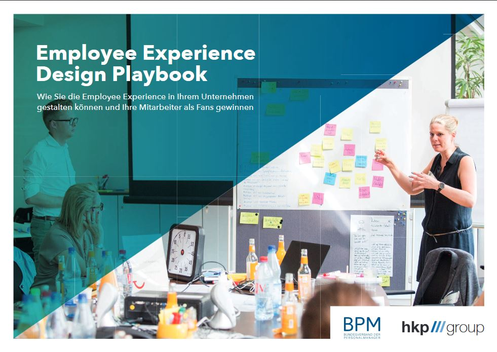 Cover des Employee Experience Design Playbooks von BPM und hkp/// group