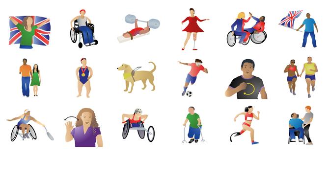 Emoji paralímpicos