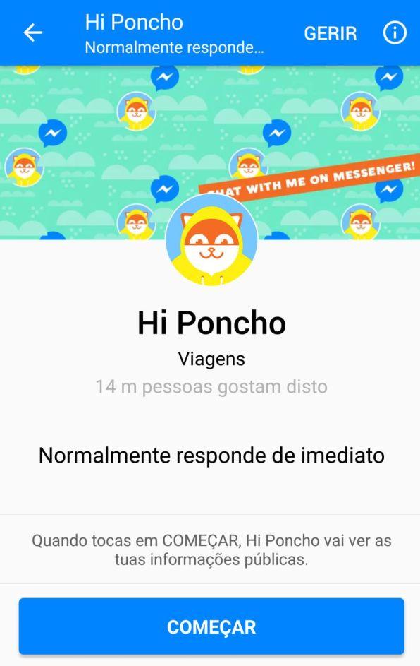 Bots Facebook Messenger | Hi Poncho