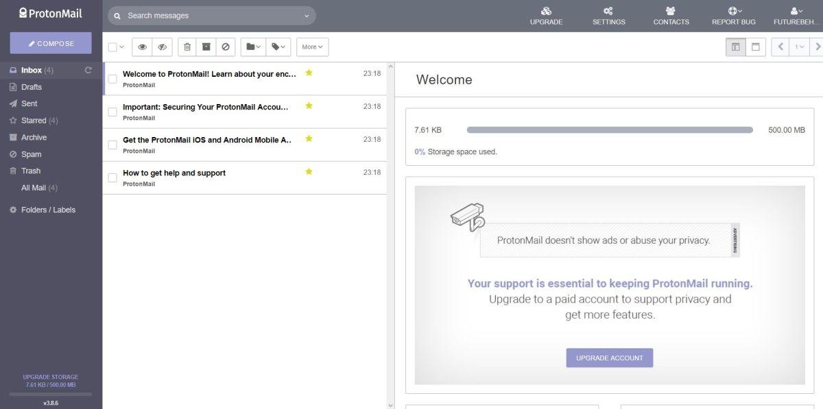 Serviços de email | Protonmail