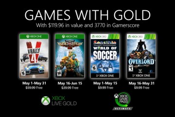 Games with gold maio 2020