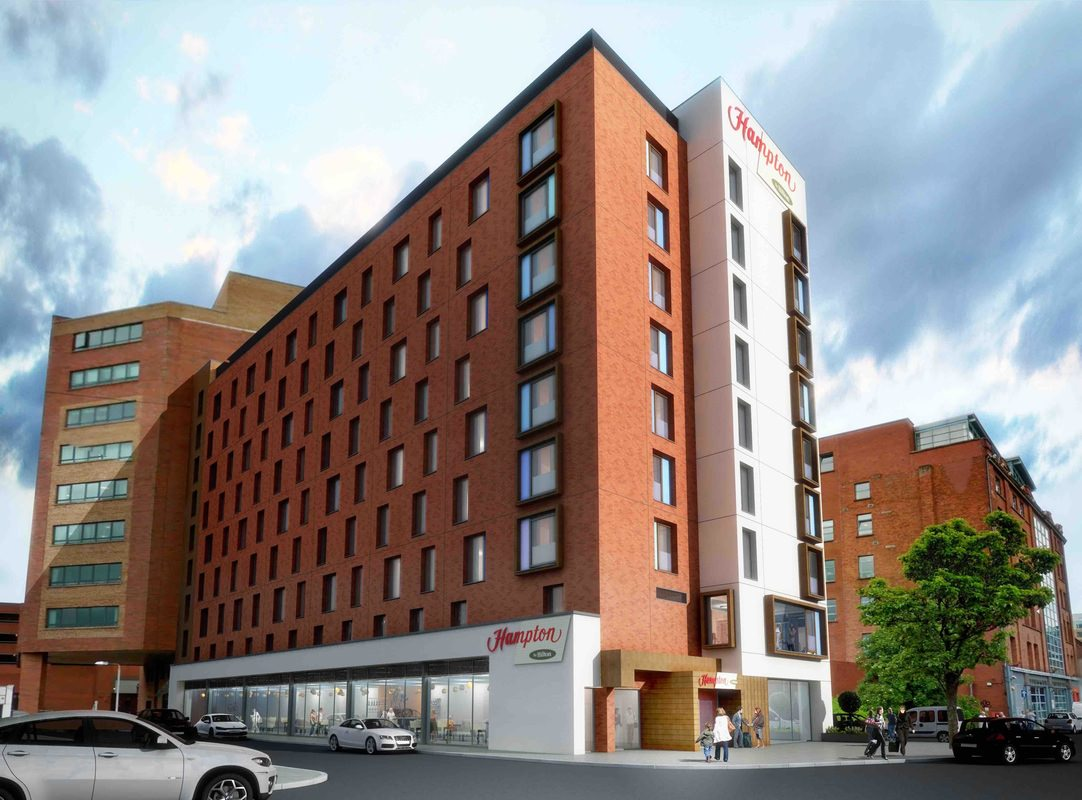 hampton by hilton inflatable origami diagram hotel future belfast