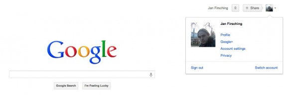 Google+ Verknüpfung google.com