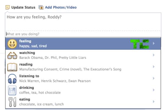 Facebook Status Updates - Icons & Emoticons